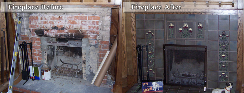 Decorative Fireplace Surround Tile Layout And Ideas