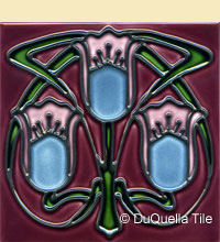 Art Nouveau tile pattern design 8003