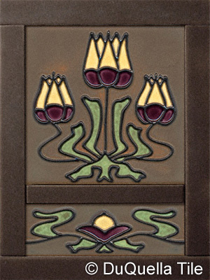 art deco fireplace tile