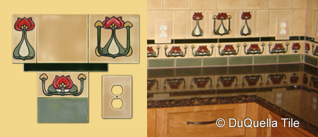 DuQuella  Tile Custom Decorative Ceramic Tile Service