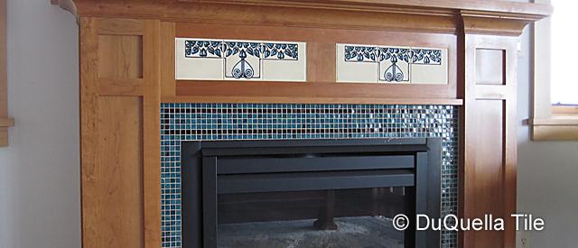 Duquella Decorative Ceramic Fireplace Tile Installations