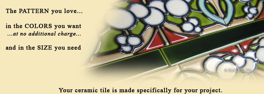 Visit our DuQuella Catalog website for custom decorative ceramic tile.