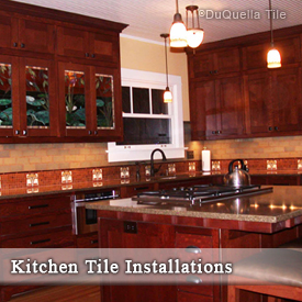 DuQuella Decorative Ceramic Tile Kitchen Installations
