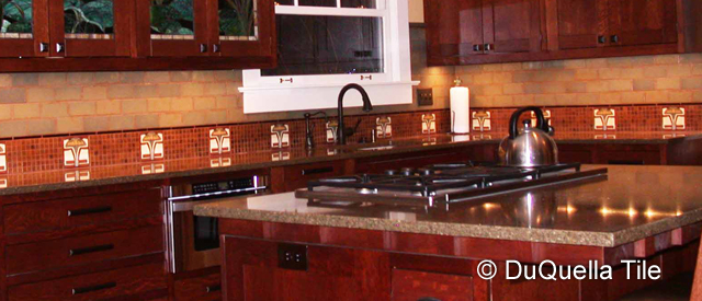 Decorative Ceramic Tile Kitchen Installations